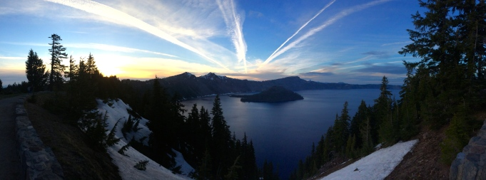 Crater Lake at sunset June 2014