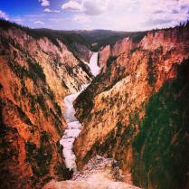Hiked a moderate 5mi trail to this overlook of Upper Yellowstone Falls in June 2013. Between this and a few other short trails we took throughout the morning and afternoon, it was a perfect day.